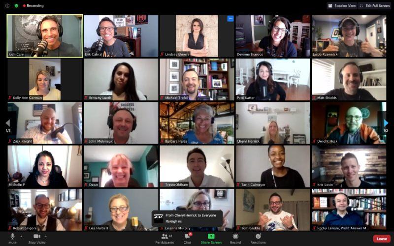PodMAX screenshot of attendees