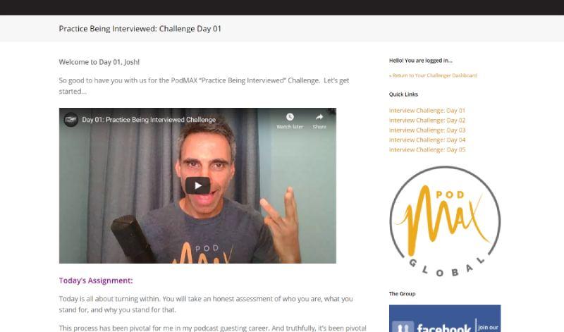 challenge dashboard screenshot